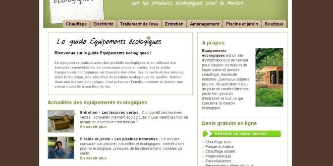 Les équipements pour une maison écologique