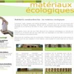 Le site Matériaux écologiques.