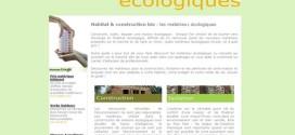 Matériaux écologiques : un site référence