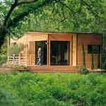 Une maison bioclimatique dans son environnement.