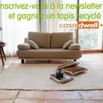 Tapis recyclé Casa Dwell