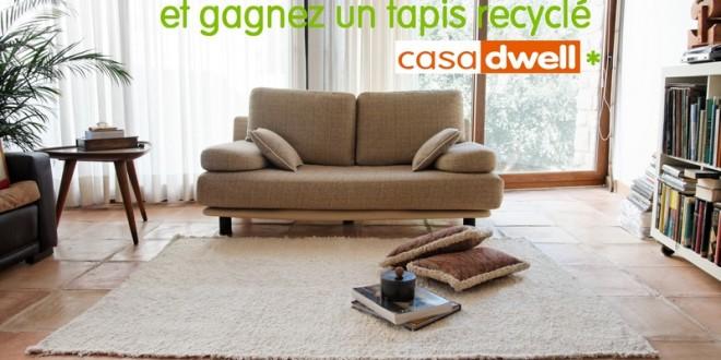Concours : gagnez un tapis de salon de la marque Casa Dwell
