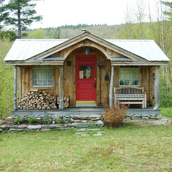 Cabane en bois rustique, Oregon.